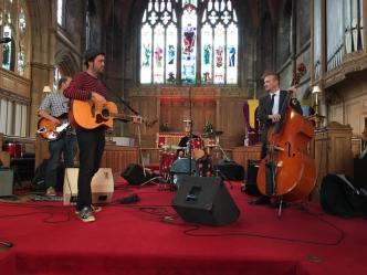 band in church