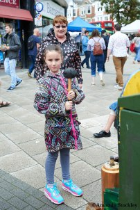 Girl with hammer