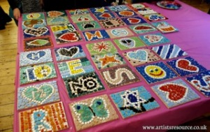 make a mosaic tile