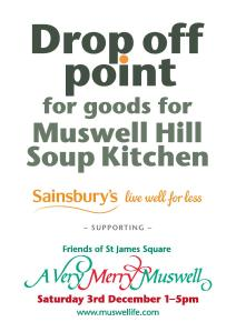 Sainsbury drop off point for soup kitchen